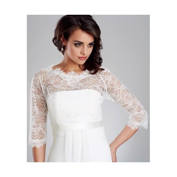 Čipkované bolerka - Najsvadobné šaty - svadobné a spoločenské šaty ... 06747d3e124